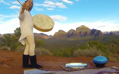 Vortex Sound Healing on the Red Rocks